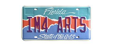 Florida Arts License Plate